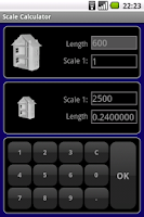 Screenshot of Scale Calculator