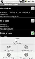 Screenshot of GTT: geo-timed task manager