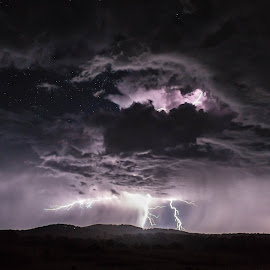 Lightning storm - near Hillgrove, NSW by Robert Stanley - Landscapes Weather (  )
