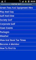 Screenshot of Pwllheli Golf Club App