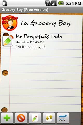 Grocery Boy Free Grocery List