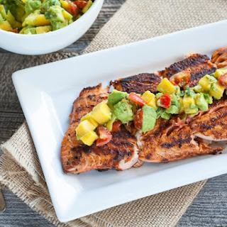 Blackened Salmon with Mango-Avocado Salsa