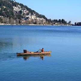 beauty of naini lake in naNITAL, INDIA by Sethi Kc - Landscapes Travel ( beauty of naini lake in nanital, india )
