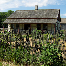 by Timothy Hatch - Buildings & Architecture Homes ( wisconsin, fence, cottage, sticks, shaker roof,  )