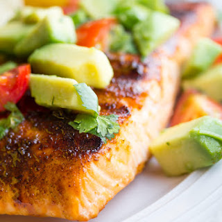 Chili-Rubbed Salmon with Avocado Salsa