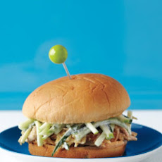 Pulled Chicken with Apple-Cucumber Slaw