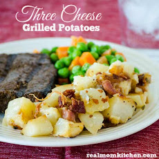 Three Cheese Grilled Potatoes