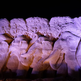 Sand sculpture by Christine Porras Toribio - Instagram & Mobile Android ( #remalsandsculpture #remal #sandsculpture #nightview #landscape #sandart,  )