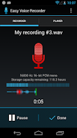 Screenshot of Easy Voice Recorder