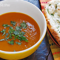 Roasted Red Kuri Coconut Curry Soup