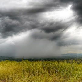 looming in the distance by Paul Anthony Bulao - Landscapes Weather ( countryside, lightning, gopro, weather, rain )