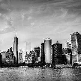 "The Financial District by Lukas Dreser - City,  Street & Park  Skylines ( skyline, ""new york"", city,  )"