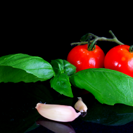 by Dipali S - Food & Drink Fruits & Vegetables ( garlic, tulsi, leaves, basil, tomatoes )