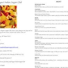 August Indian Supper Club