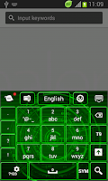 Screenshot of Neon Keyboard for Galaxy Note2