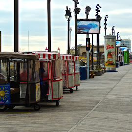 Your Carriage Awaits by T. Rick Jones - Transportation Other ( ride, chair, atlantic city, boardwalk, new jersey )