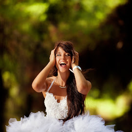 by Alexander Hadji - Wedding Other ( wedding, greece, smile, bride )