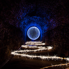 Sparkler and Orb by Rob McAvoy - Abstract Light Painting ( orb led rgb victoria tunnel lightpainting long exposure )