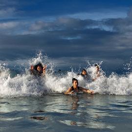 Swimming  The Little Tzunami by Pelukis Badai - Sports & Fitness Swimming