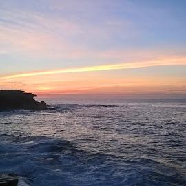 Almost Like The Rainbow  by Kamila Romanowska - Instagram & Mobile Other ( australia, ocean, sunrise, morning, sydney )
