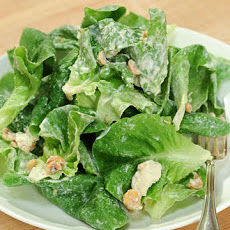 Butter Lettuce, Hazelnut, and Gorgonzola Salad with Lemon Creme Fraiche Dressing