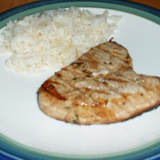 Barbecued Tuna Steaks with Garlic Tarragon Marinade