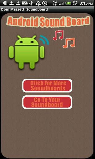 Dom Mazzetti Sound Board