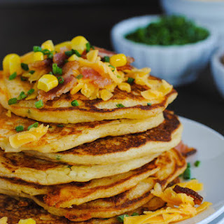 Bacon, Corn & Cheddar Pancakes