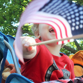 Child on the Fourth of July by Jeffrey Marcus - Babies & Children Toddlers (  )