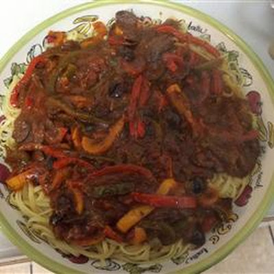 Pepper and Olive Pasta Sauce