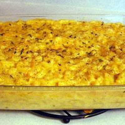 Baked Macaroni Cheese with Ham