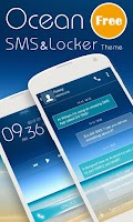 Screenshot of (FREE)OCEAN SMS & LOCKER THEME