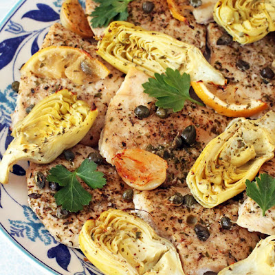 Baked Lemon Artichoke Chicken