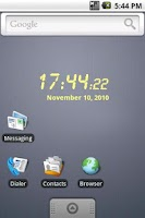 Screenshot of LCD clock widget