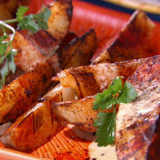 Grilled Potato Wedges with Smoked Paprika Mayonnaise Dressing
