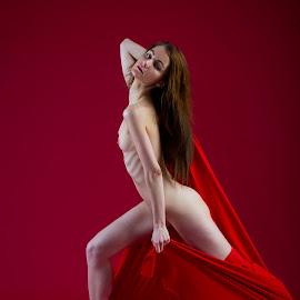 Lady in Red by Meelis Adamson - Nudes & Boudoir Artistic Nude