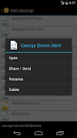 Screenshot of SMS BackUp!