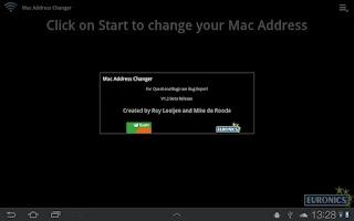 Screenshot of Mac Address Changer