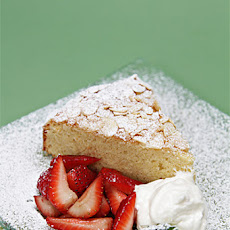 Almond Cake with Strawberries and Ginger Chantilly