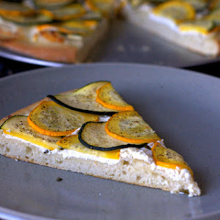 Lemony Zucchini Goat Cheese Pizza