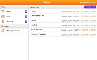 Screenshot of Hublife Tablet