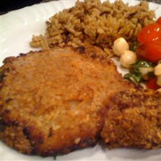 Graham Crusted Pork Chops