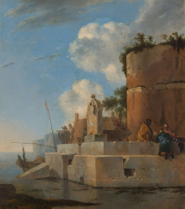 RIJKS: Jan Asselijn: A Coastal Ruin in Italy 1652