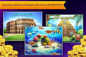 Screenshot of Slots Neverland: slot machines