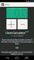 Screenshot of Clean Calculator