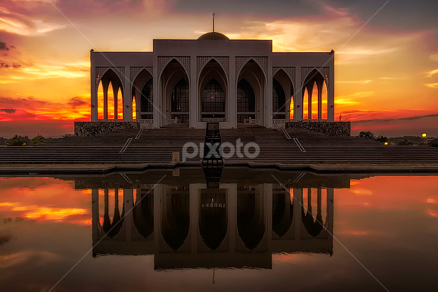 Masjid Central Mosque by Mark Anthony Bansag - Buildings & Architecture Places of Worship ( , Lighting, moods, mood lighting )