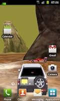 Screenshot of 3D Car Racing Rocky Landscape