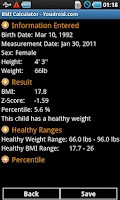 Screenshot of BMI Calculator Pro