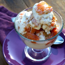 Ginger Peach Cheesecake Ice Cream