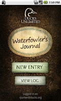 Screenshot of DU Waterfowler's Journal